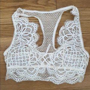 Victoria Secret White Lace Bralette